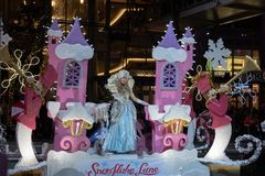 Princesa na parada do Natal de Bellevue foto de stock