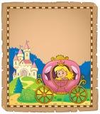 Princesa no pergaminho 2 do tema do transporte ilustração royalty free