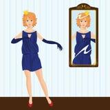Princesa pelo espelho ilustração royalty free