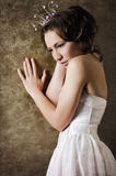 Princesa sonhadora bonita Imagem de Stock Royalty Free
