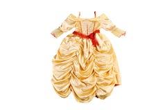 Princesa pequena do vestido O vestido da menina isolado no branco Foto de Stock