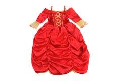 Princesa pequena do vestido Roupa para um partido isolado no branco Fotografia de Stock Royalty Free