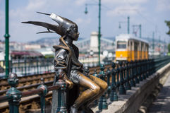 Princesa pequena Statue em Budapest, Hungria Fotos de Stock