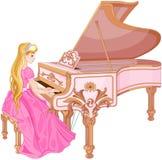 Princesa Playing el piano Imagen de archivo