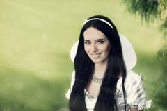 Princesa por el lago Imágenes de archivo libres de regalías