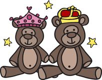 Princesa And Prince Bears Foto de archivo libre de regalías