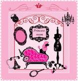Princesa Quarto - ilustração para meninas Foto de Stock