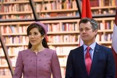Princesa Real Mary Elizabeth de Dinamarca y Federico, Príncipe heredero de Dinamarca imagen de archivo