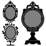 Princesa retra de la vendimia adornada del espejo Imagenes de archivo