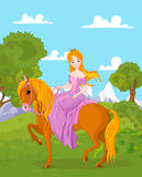 Princesa Riding Horse Foto de Stock