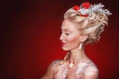 Princesa roja Fotografía de archivo