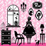 Princesa Room com acessórios do encanto Imagens de Stock Royalty Free
