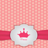 Princesa Seamless Pattern Background Imagenes de archivo