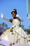 Princesa Tiana en el desfile de Disney fotografía de archivo