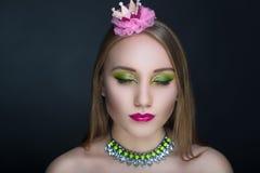Princesa verde Frog imagem de stock royalty free