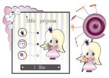 Princesa y caramelo Foto de archivo libre de regalías