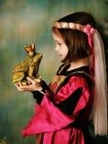 Princesa y el príncipe de la rana Foto de archivo libre de regalías