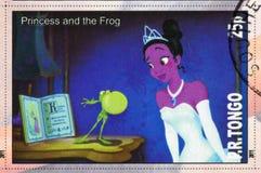 Princesa y la rana imagen de archivo