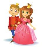 Princesa y príncipe hermosos Fotografía de archivo libre de regalías