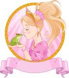 Princesa y rana Foto de archivo libre de regalías