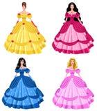 Princesas do conto de fadas Ilustração Stock