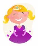 princess śliczna smokingowa mała różowa tiara royalty ilustracja