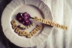 princess śniadanie Obrazy Royalty Free