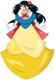 Princess Śnieżny biel W Błękitnej kolor żółty sukni Zdjęcie Royalty Free