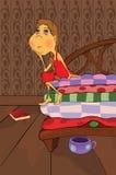 princess гороха шаржа Стоковая Фотография RF