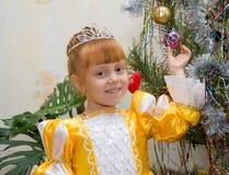 princess девушки платья маленький Стоковая Фотография
