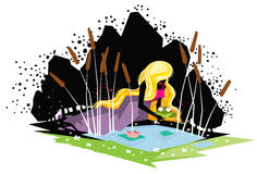 Princess и лягушка Стоковая Фотография