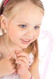 princess портрета платья розовый малый стоковое фото