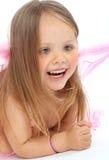 princess портрета платья розовый малый стоковые фото