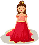 Princess. Illustration of isolated cartoon princess on white background Stock Image