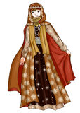Princess. Arab Princess in traditional costume Stock Photo