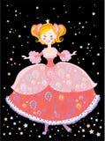 Princess. Beautiful glad princess in rose dress Royalty Free Stock Photos