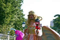 Princess amba carnival dancer Stock Photo