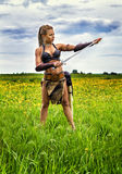 Princess of the ancient barbarians. Royalty Free Stock Photo