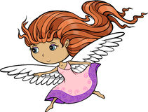 Princess Angel. Pretty Princess Angel Vector Illustration Stock Photo