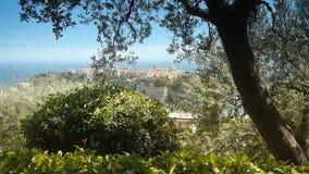 Princess Antoinette morze śródziemnomorskie przy Monaco i park, Cote D'Azur Francja zbiory wideo