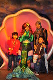 Princess Ariel and a family at Tokyo Disney Sea. Princess ariel the mermaid , a disney cartoon character at Disney Sea ( a theme park managed by Disneyland ) had royalty free stock photography
