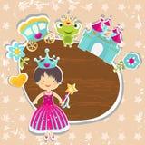 Princess background stock illustration