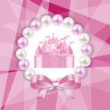Princess  Background with Castle Vector Stock Image