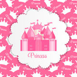 Princess  Background with Castle Vector Stock Photo