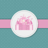 Princess  Background with Castle Vector Stock Photography
