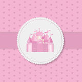 Princess  Background with Castle Vector Royalty Free Stock Images