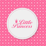 Princess  Background with Castle Vector Royalty Free Stock Photography