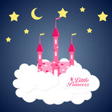 Princess  Background with Castle Vector Royalty Free Stock Photo