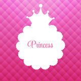 Princess Background with Crown Vector. Illustration EPS10 stock illustration