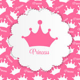 Princess  Background with Crown Vector Stock Photo